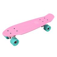 Скейтборд пластиковый PLAYSHION FS-PS001P (Розовый), фото 1
