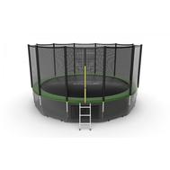Батут EVO JUMP EXTERNAL 16 FT GREEN + LOWER NET, фото 1